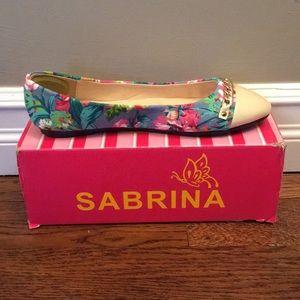 Size 10 Sabrina floral flats